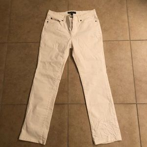 Ralph Lauren ladies white jeans size 6 x 27